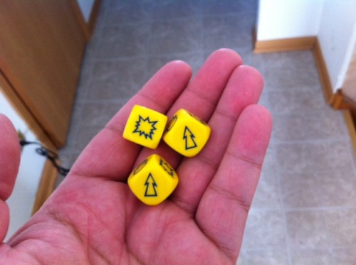 Yellow NAF Dice